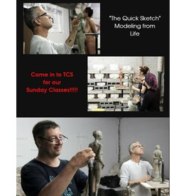 180812 The Quick Sketch: Sculpting from Life & Practical Anatomy for Artists Class