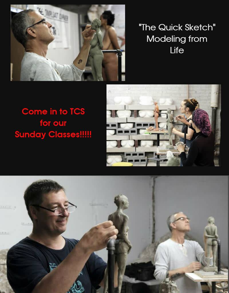 180923 The Quick Sketch: Sculpting from Life & Practical Anatomy for Artists Class