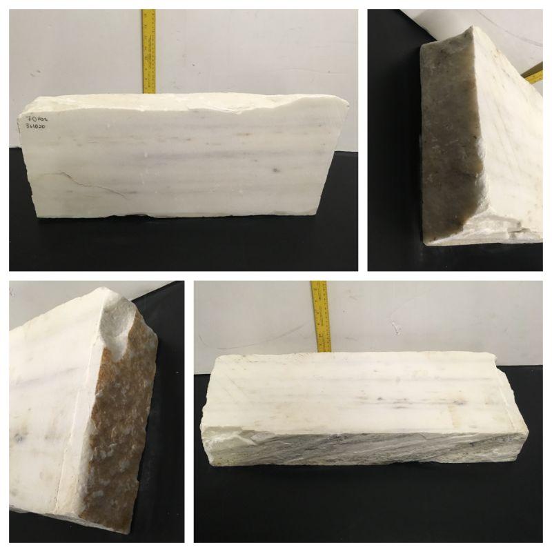 70lb Statuario Puro Bianco Marble 24x9x3 #361020