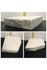 57lb Statuario Puro Bianco Marble 14x14x3 #361017