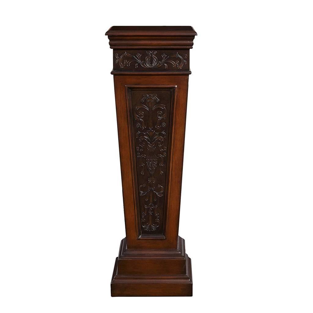 Wooden Ornate Pedestal 14X14X43