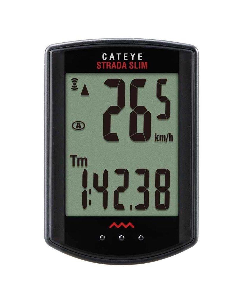 Cateye, Cyclometre strada SLIM Noir Sans-fil