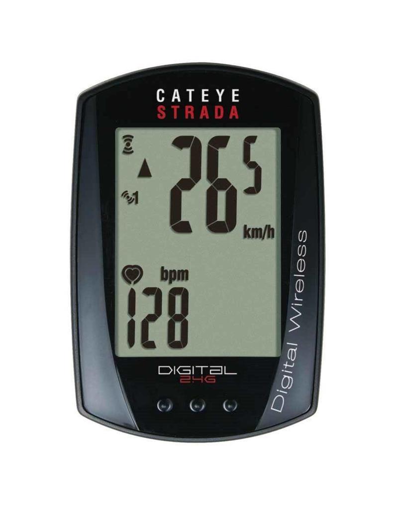 Cateye, Cyclometre Strada Digital Cadence Noir Sans-fil