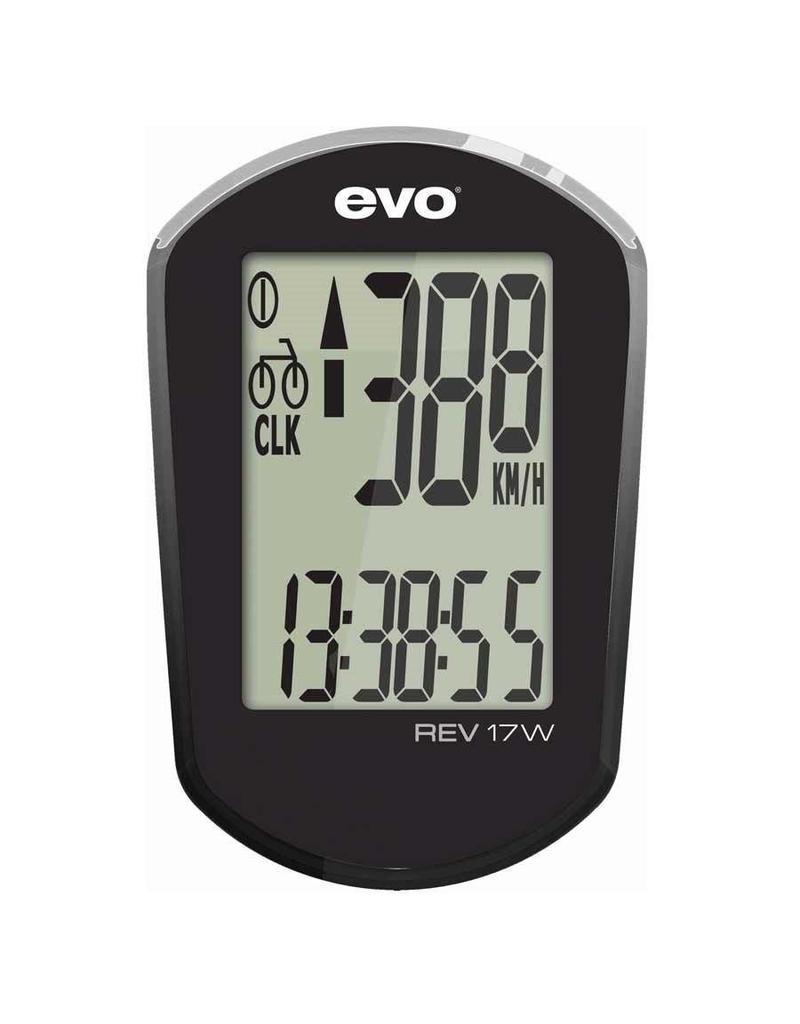 Evo, Cyclometre REV 17W Noir Sans-fils