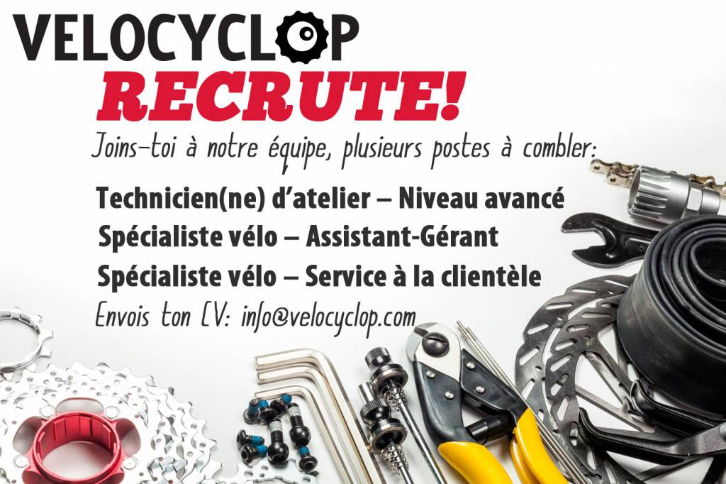 Velocyclop recrute!