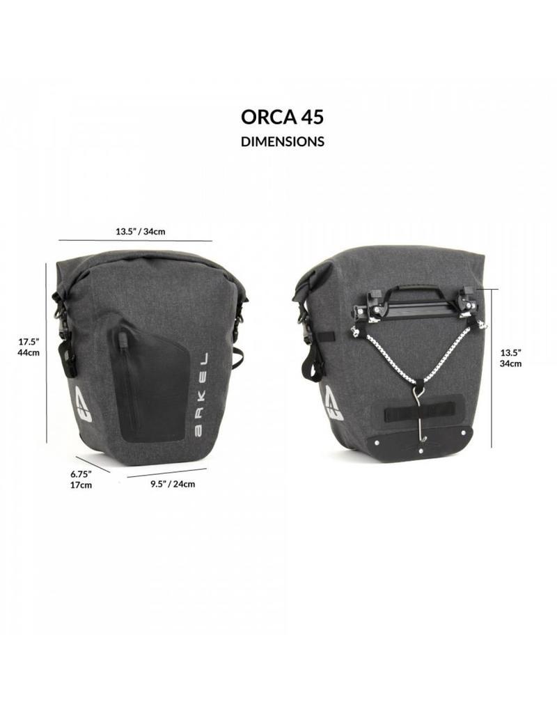 Arkel, Sacoche Etanche Orca 45 (paire) Gris 45 L