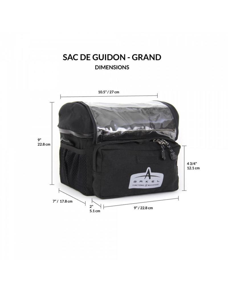 Arkel, Grand Sac de Guidon Noir