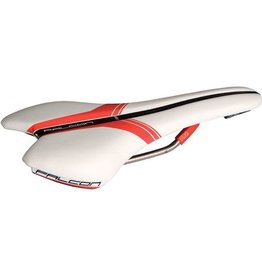 PRO, Selle Falcon Ti AF, microfiber White/Red, 142 mm