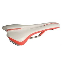 PRO, Selle Griffon Ti AF, microfiber White/Red 132mm