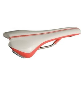 PRO, Selle Griffon Ti, microfiber White/Red 142 mm