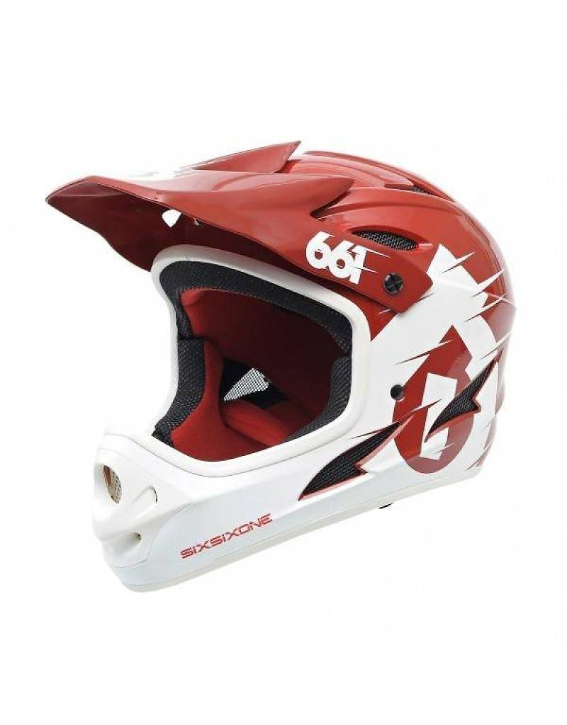 661, Casque Comp Blanc/Rouge