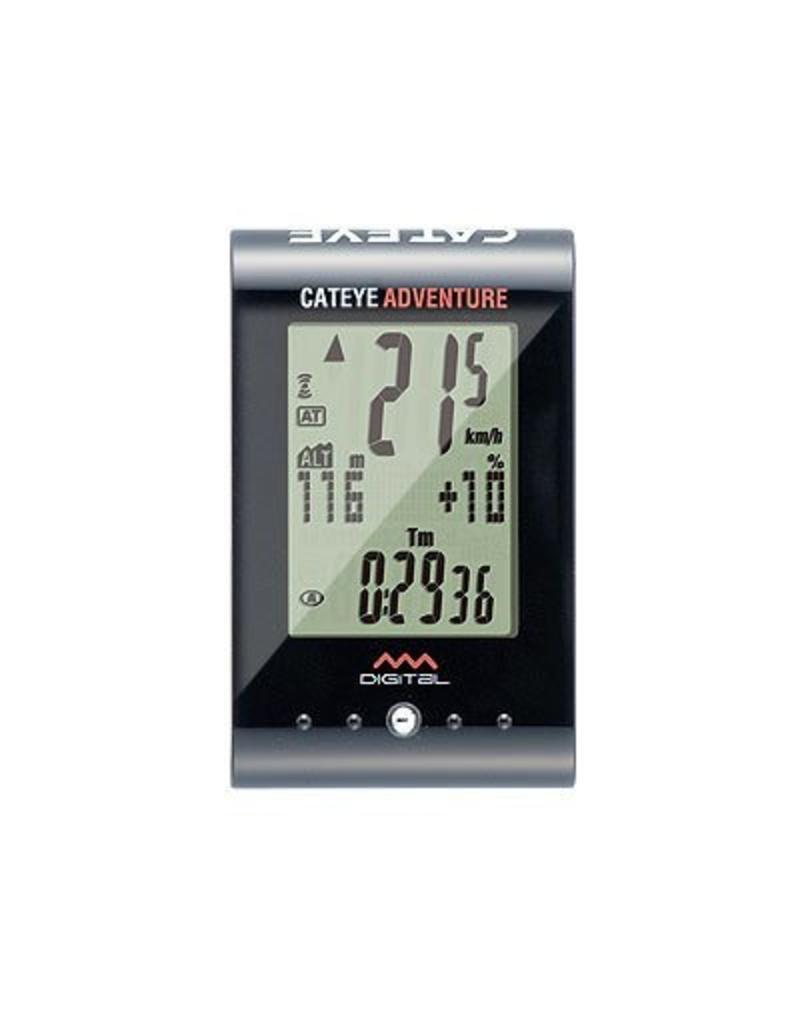 Cateye, Cyclometre Adventure sans-fil Noir