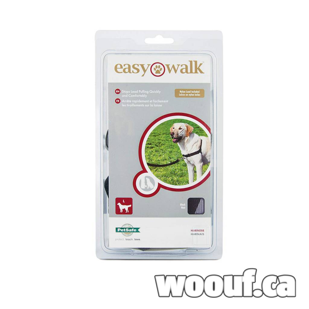 Easy Walk Harnais - Noir XL