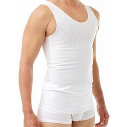 Underworks Underworks Cotton Lined Power Chest Binder Tank 977- Orin, White