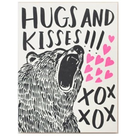 HelloLucky Bear Hugs Greeting Card