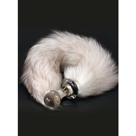 Crystal Delights Crystal Minx Fur Tail Plug, Arctic Marble