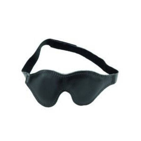 Spartacus Classic Leather Blindfold, Padded Fabric Lining