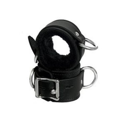 Kookie Fleece-Lined Cuffs, Locking Buckle, Black