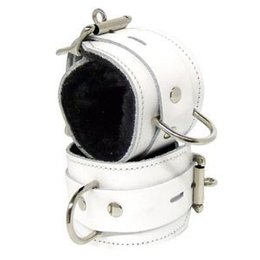 Kookie Fleece-Lined Cuffs, Locking Buckle, White