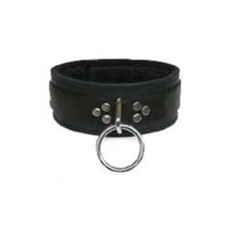 Kookie Fleece-Lined Wide Collar with O-Ring, Black