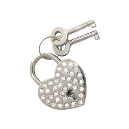 Unknown Padlock, Heart Rhinestone