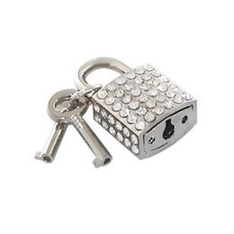 Unknown Padlock, Square Rhinestone