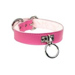 Kookie Slimline Collar with Fleece Lining, Pink