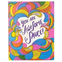 HelloLucky Awesome Sauce Greeting Card