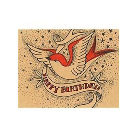 HelloLucky Happy Birthday Swallow Greeting Card