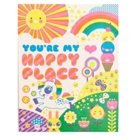 HelloLucky Happy Place Greeting Card