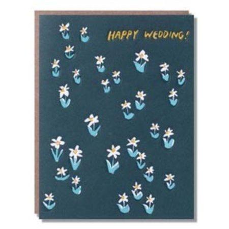 Egg Press Happy Wedding Meadow Greeting Card