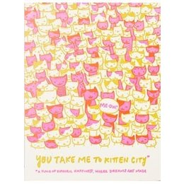 HelloLucky Kitten City Greeting Card