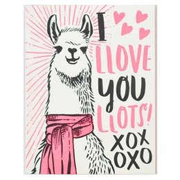 HelloLucky Llama Love Greeting Card