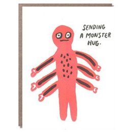 Egg Press Monster Hugs Greeting Card
