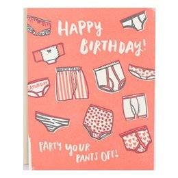 HelloLucky Party Your Pants Off Birthday Greeting Card