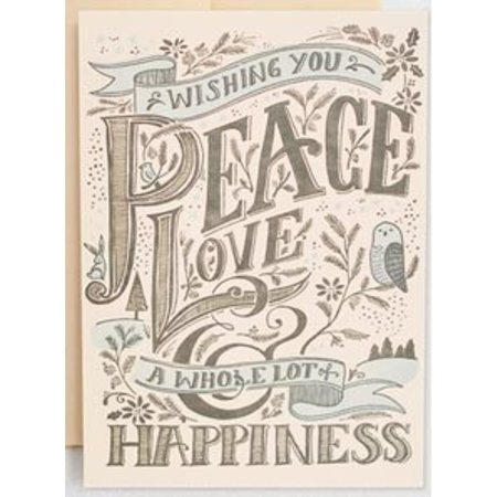 HelloLucky Peace, Love, and Happiness Greeting Card