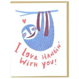 HelloLucky Sloth Love Greeting Card