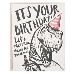 HelloLucky T-Rex Birthday Greeting Card