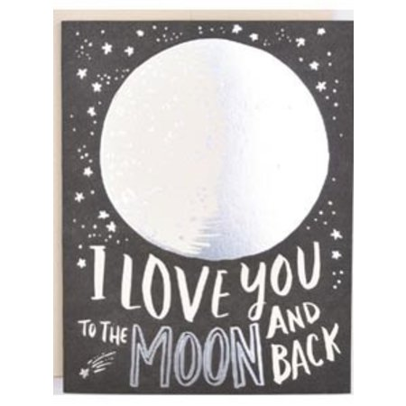 HelloLucky To The Moon Greeting Card