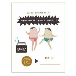 Laura Berger Underwear Dance Party Greeting Card