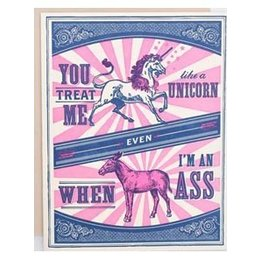 HelloLucky Unicorn and Ass Greeting Card