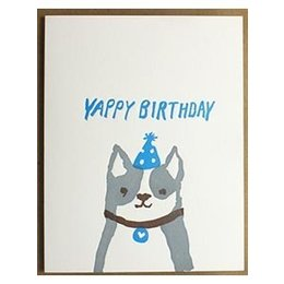 Egg Press Yappy Birthday Greeting Card