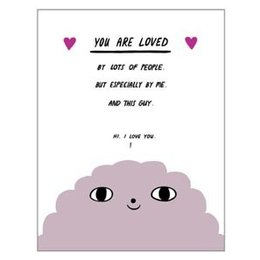 Laura Berger You Are Loved Greeting Card