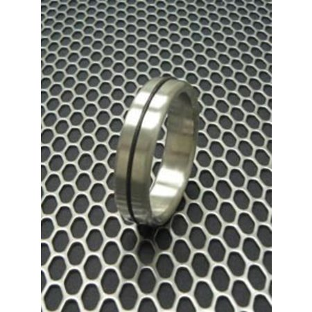 Ballistic Metal Designer Stainless Cock Ring with Accent