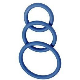 Spartacus Nitrile Cock Rings, Set of 3
