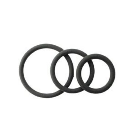 Spartacus Rubber Cock Rings, Set of 3