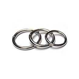 Spartacus Steel Cock Rings 3-pack, Nickel Plated
