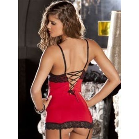 Rene Rofe 2 Piece Hollywood Chemise G-String Set 512037