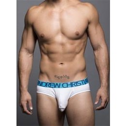 Andrew Christian Andrew Christian 90047 Almost Naked Cotton Tagless Brief, White