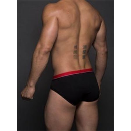 Andrew Christian Andrew Christian 90066 Almost Naked Retro Tagless Brief, Black